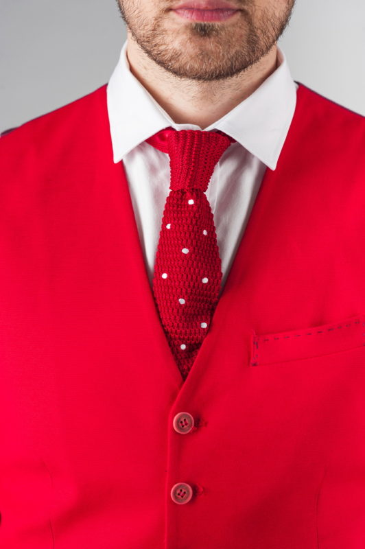 Красный мужской жилет. Арт.:3-269-3