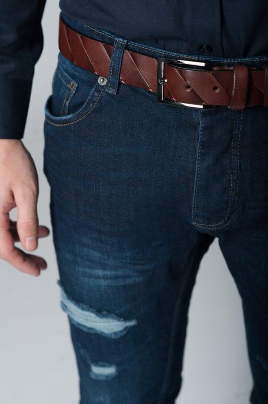 Стильные «рваные» джинсы slim fit. Ар.:7-267
