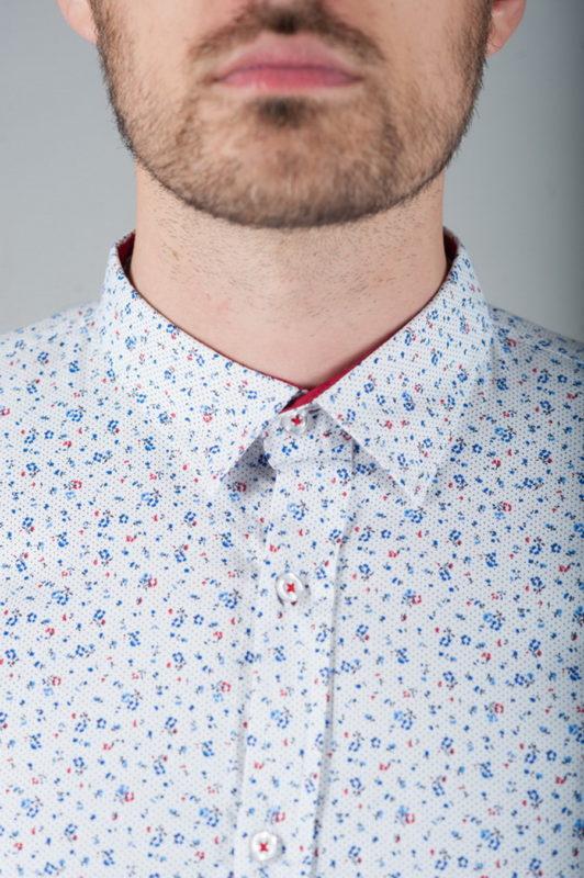 Белая рубашка с оригинальным принтом. Арт.:5-275-13