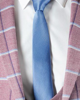 Узкий галстук голубого цвета ti-009j
