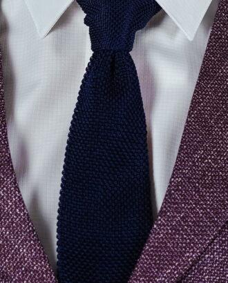 Вязанный галстук чернильного цвета ti-012k