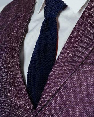 Вязанный галстук чернильного цвета. Арт.:10-48