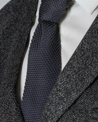 Серый фактурный галстук. Арт.:10-49