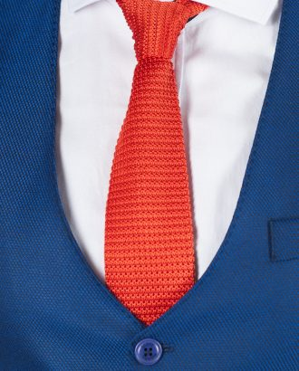 Вязанный оранжевый галстук. Арт.:10-51