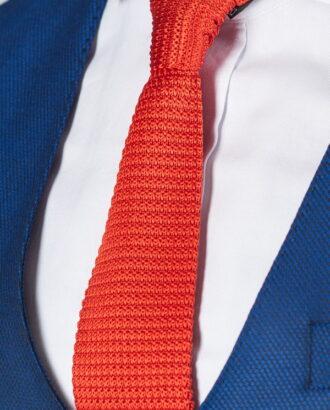 Вязанный оранжевый галстук ti-015k