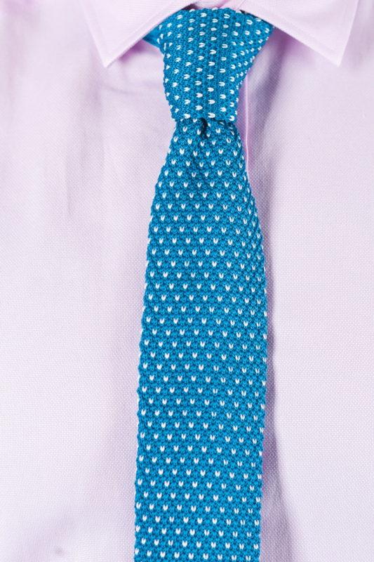 Фактурный галстук голубого цвета. Арт.:10-52