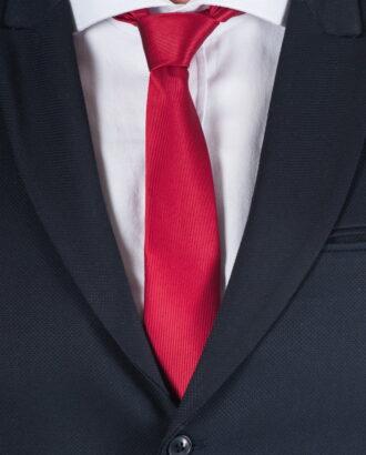 Зауженный красный галстук ti-018j