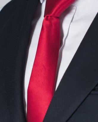 Зауженный красный галстук. Арт.:10-54