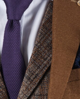Фактурный фиолетовый галстук ti-021k
