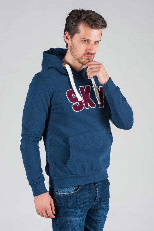 Синяя толстовка с капюшоном. Арт.:9-028