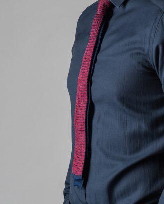 Узорчатый галстук синего и бордового цвета. Арт.:10-59