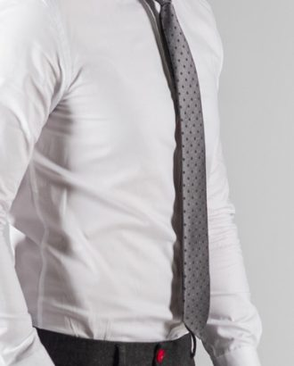 Серый галстук в горошек. Арт.:10-60
