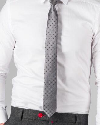 Серый галстук в горошек ti-024j