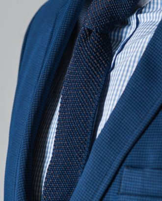 Вязанный галстук темно-синего цвета. Арт.:10-61