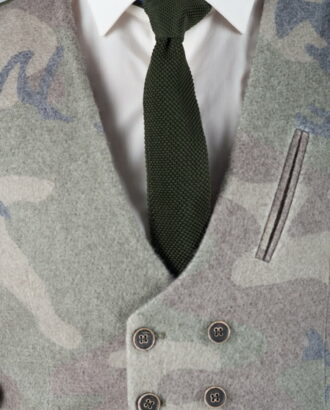Вязанный галстук темно-зеленого цвета ti-027k