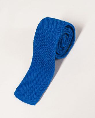 Яркий синий фактурный галстук. Арт.:10-20