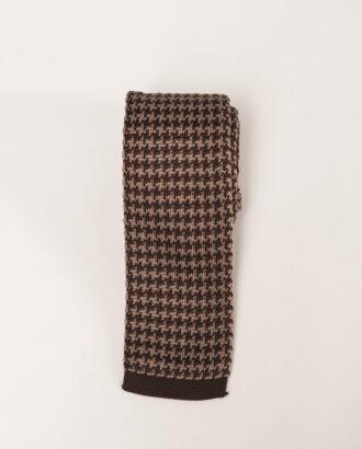 Вязанный галстук коричневого и бежевого цвета. Арт.:10-30