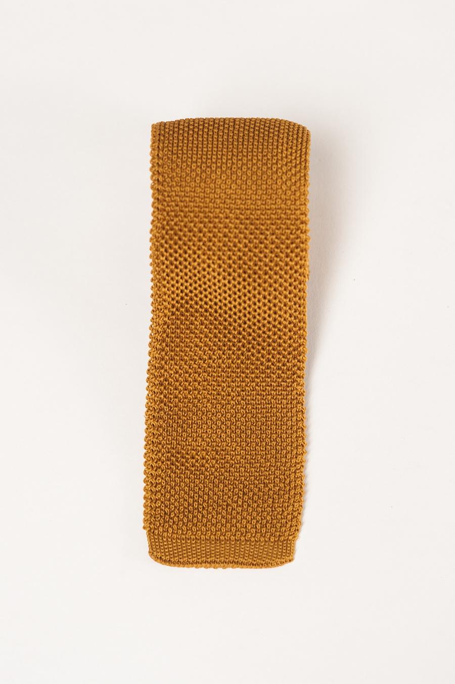 Фактурный галстук горчичного цвета. Арт.:10-34