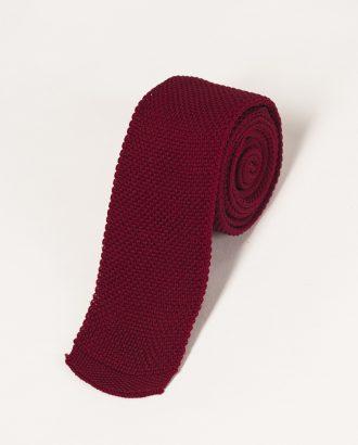 Фактурный бордовый галстук. Арт.:10-36