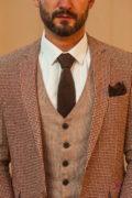 Мужской кэжуал пиджак коричневого цвета. Арт.:2-529-2