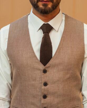Мужской жилет бежевого цвета из хлопка. Арт.:3-529-3