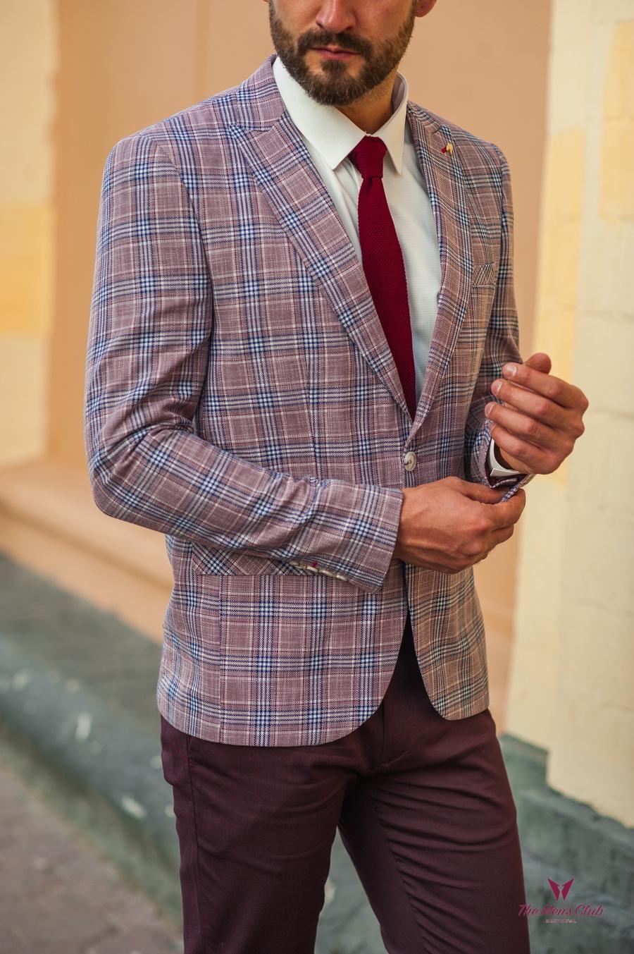 Стильный мужской пиджак в клетку. Арт.:2-533-22