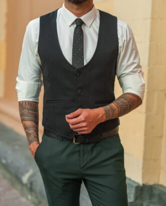 Классический мужской жилет черного цвета. Арт.:3-534-4