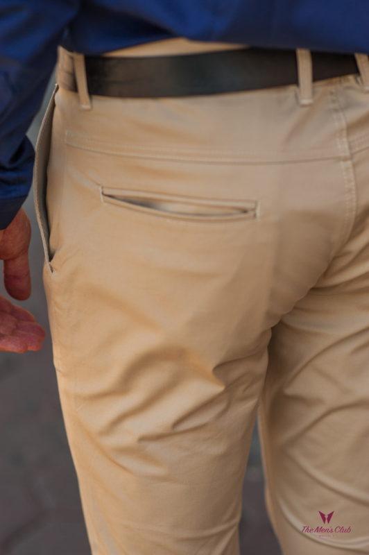 Повседневные мужские брюки бежевого цвета. Арт.:6-542-2