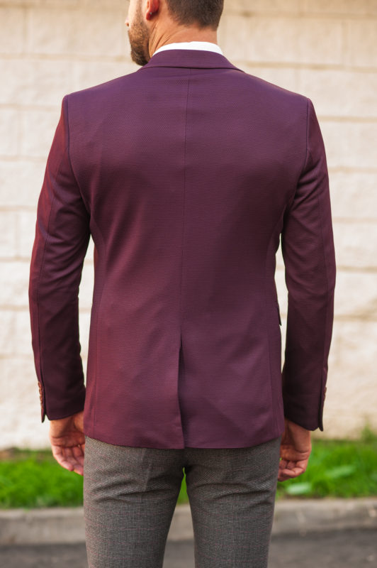 Стильный фиолетовый пиджак для мужчин. Арт.:2-503-2