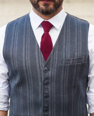 Мужской жилет серого цвета. Арт.:3-506-3