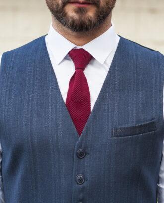 Темно-синий мужской жилет стиле кэжуал. Арт.:03-522-3