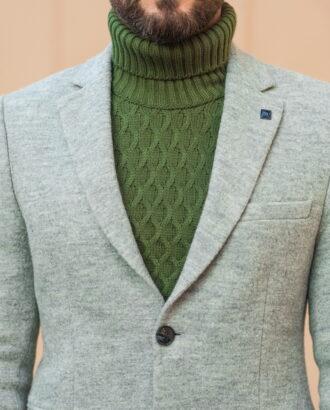 Серое мужское пальто на осень и весну. Арт.:1-511-3