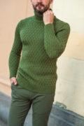 Мужская водолазка зеленого цвета. Арт.:8-511-8