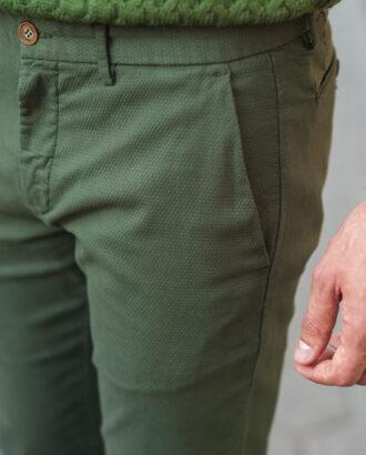 Мужские брюки зеленого цвета. Арт.:6-511-2