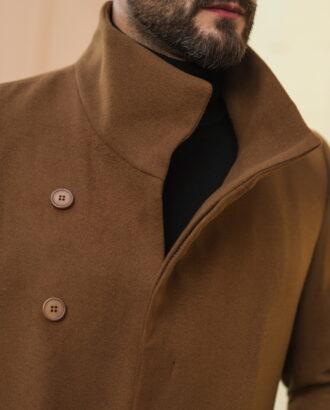 Мужское пальто горчичного цвета. Арт.:1-513-2