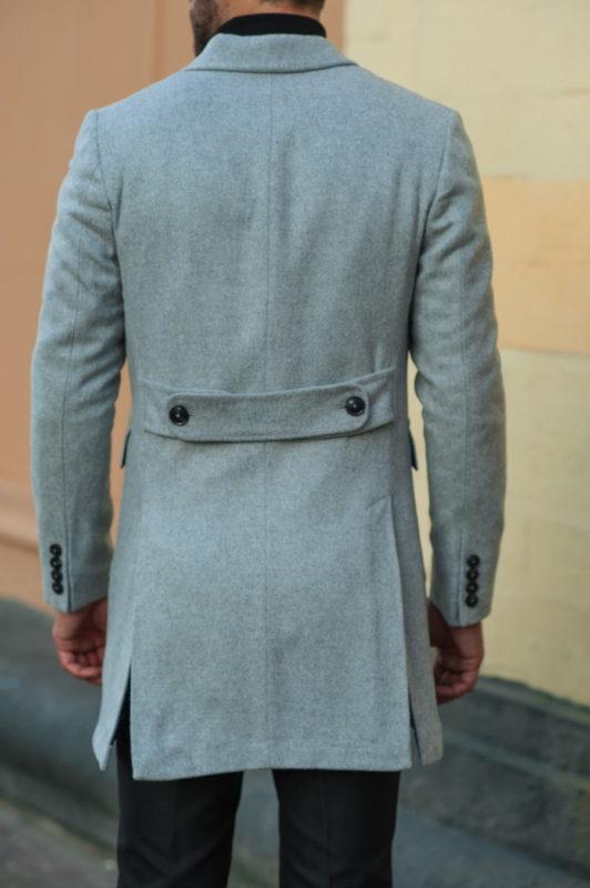 Двубортное пальто серого цвета. Арт.:1-515-3