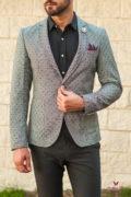 Мужской casual пиджак серого цвета. Арт.:2-559-2