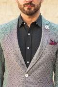 Серый мужской пиджак с мелким рисунком. Арт.:2-562-4