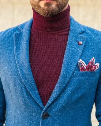 Классическое мужское пальто в синем цвете. Арт.:1-568-3