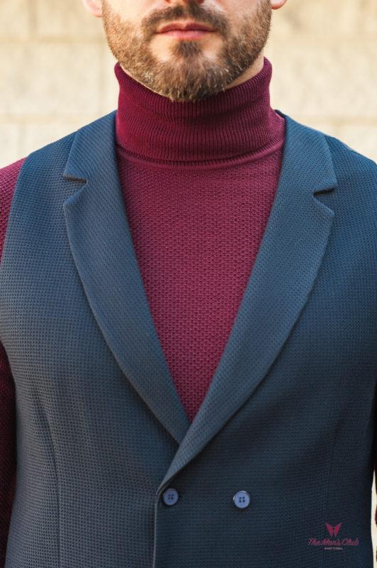 Костюмный мужской жилет черного цвета. Арт.:3-568-5