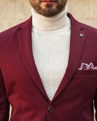 Стильный мужской пиджак в бордовом цвете. Арт.:2-569-1