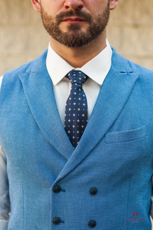 Мужской кэжуал жилет светло-синего цвета. Арт.:3-570-3