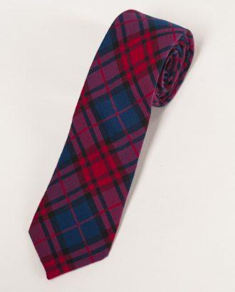 Трикотажный галстук в шотландскую клетку. Арт.:10-01