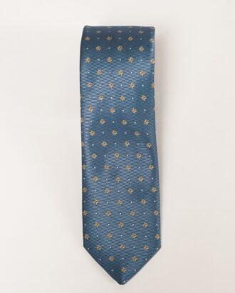 Голубой галстук с мелким принтом. Арт.:10-10