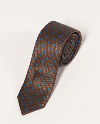 Узкий коричневый галстук. Арт.:10-12