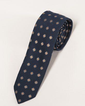Синий галстук с мелким принтом. Арт.:10-13