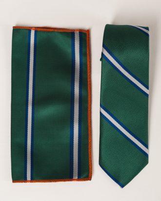 Галстук и платок в зеленом цвете. Арт.:10-15