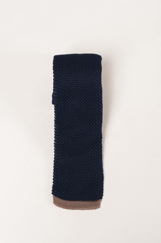 Вязаный галстук темно-синего цвета. Арт.:10-18