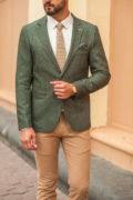 Светло-зеленый мужской пиджак. Арт.:2-549-2
