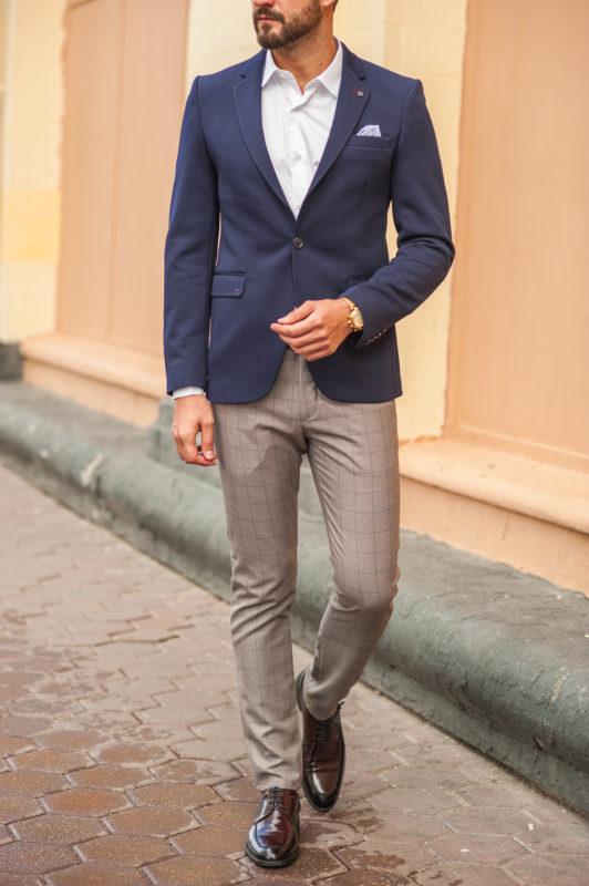 Стильный мужской пиджак темно-синего цвета. Арт.:2-552-2